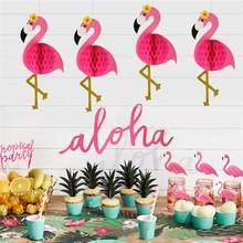 Staraise rosa flamingo verão tropical hawaiian decorações de festa de aniversário decorações de festa tropical havaiano aloha festa luau