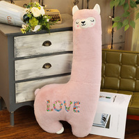LOVE Alpaca Doll Pillow for a Girlfriend Gift Home Decoration Soft Rabbit Fur Alpaca Doll