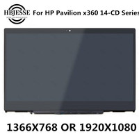 Original 14''LCD Display Touch Screen Glass Digitizer Assembly For HP PAVILION X360 14 CD 14 CD0101ng 14 CD0046TX X360 14 DD