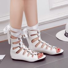 Oversized 12 13 14 15 16 17 18 1 high heels sandals women shoes woman summer ladies Round head open-toed Thick with sandals(China)