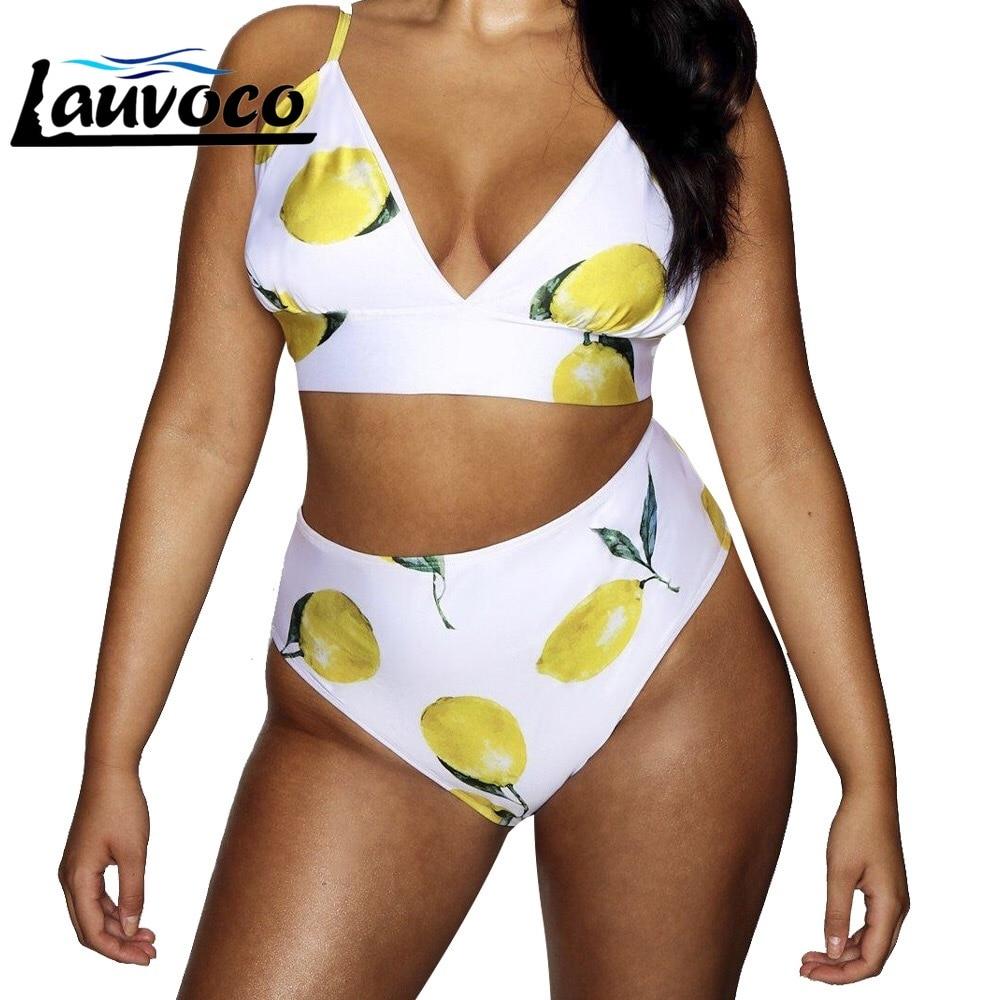 Plus Size High Waist Bikini Floral Print Bikini Set Swimwear V Neck Ladies Swimsuit Sexy Tankini Femme Swimming Suit For Women 1