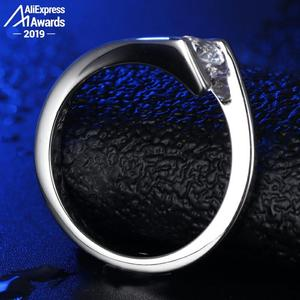 Image 2 - Corte redondo 1*5mm S925 anillo de plata esterlina SONA diamante solitario anillo fino estilo único amor compromiso de boda