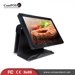 POS terminal 15 inch capacitive touch screen  pure screen POS system for Link Shop