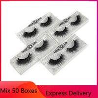 MUYE 1 pair 25 boxes natural false eyelashes fake lashes long makeup 3d mink lashes eyelash extension mink eyelashes for beauty