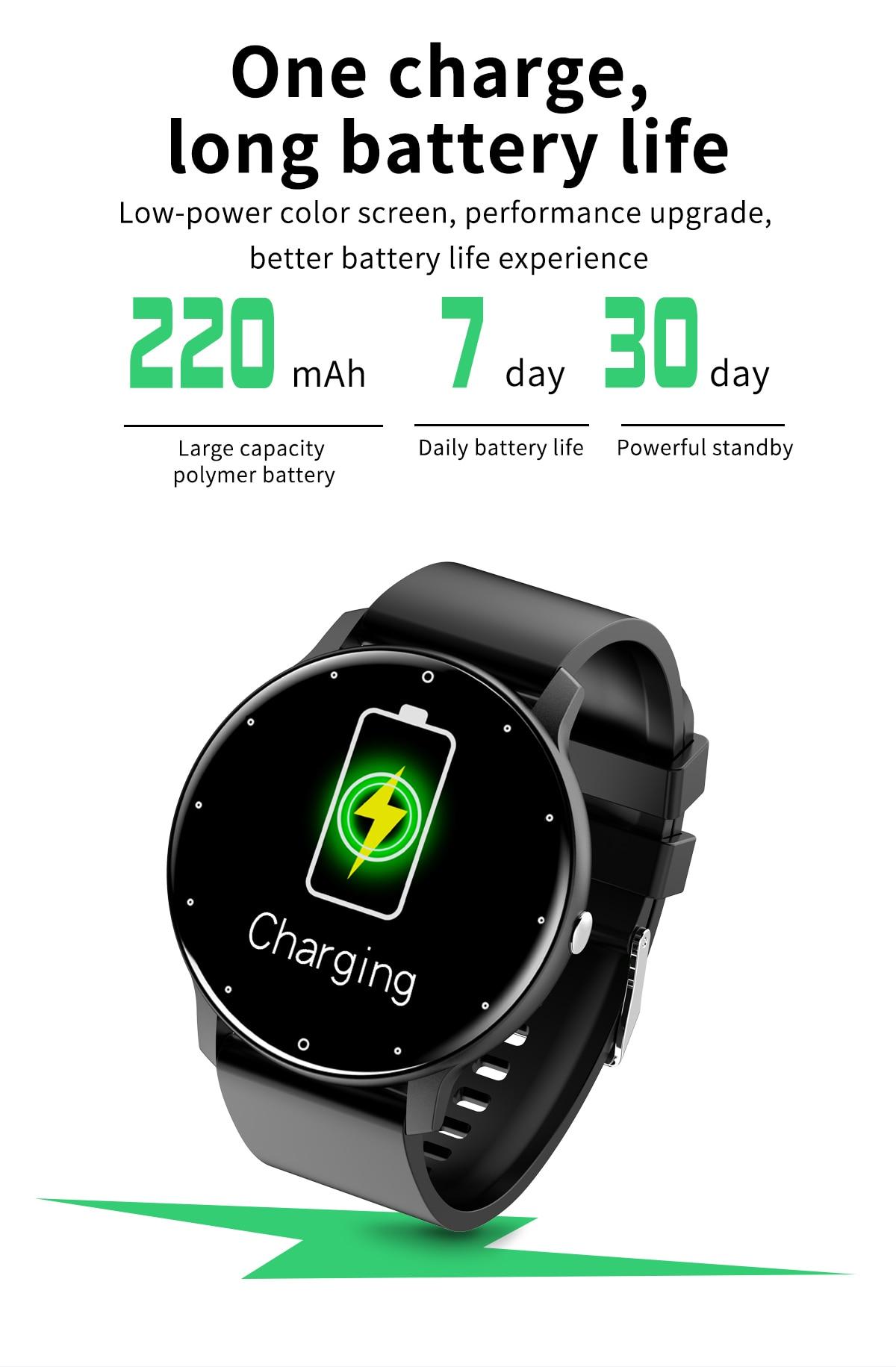 H69b41bb7012142548a80397c3a84e9ddZ LIGE 2021 Fashion Smart Watch Men Fitness Bracelet Heart Rate Blood Pressure Monitoring Sports Tracker Smartwatch Gift for Women
