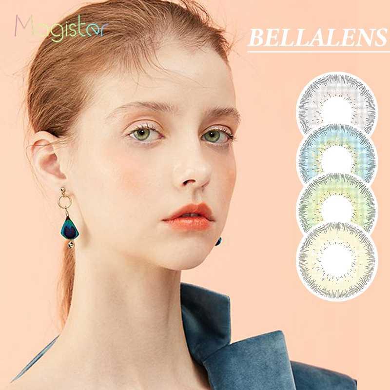 Bellalens Series Màu Kính Áp Tròng Hàng Năm Màu Sắc Kính Mắt Trang Trí Màu Danh Bạ 14.2 Mm Đẹp Học Sinh
