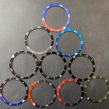 38mm inserção moldura de alumínio para seiko prospex padi tartaruga relógio rosto relógios substituir acessórios anel colorido srpa srp samurai