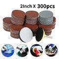 Набор шлифовальных дисков, 80/300/180/240/320 Grits, 2 дюйма, 50 мм, с петлей, с хвостовиком 3 мм, для полировки, чистящие инструменты, 800/3000 шт.