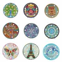 5D DIY Mandala Full Drill Diamond Painting Light Lamp Rhinestone Embroidery Special Shape Drill LED Diamond Painting Lamp