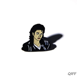 Michael Jackson Brooch Figure Face Enamel Metal Pin Packbag Jacket Decor Jewelry(China)