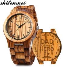 Shifenmei Wooden Watch Personalized Engraved Men Watches 201