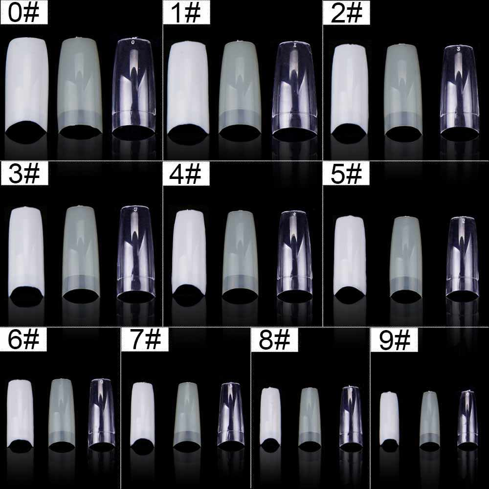 Капсулы для ногтей 500 шт поддельные ногти капсулы натуральный гроб Типсы для ногтей ногти искусственные накладные ногти искусственные прозрачные/натуральные/белые