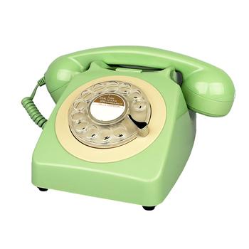Telefon przewodowy zielony Retro telefony stacjonarne antyczny obrotowy telefon stacjonarny dość klasyczne telefony do wystroju domu tanie i dobre opinie TelPal Przewodowe rotro telephone reotary dial telephone red rotary dial telephone 8009A Corded telephone corded phone Wired telephone wired phone