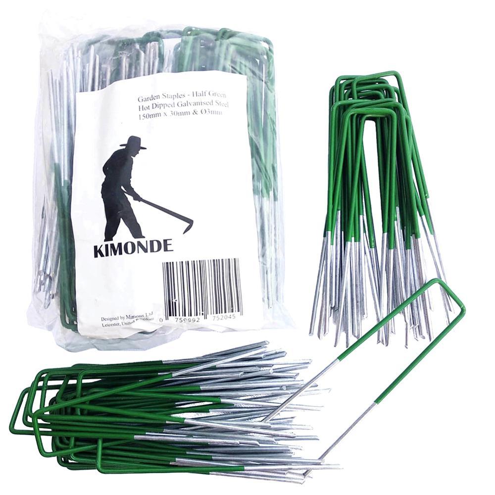 10 Pcs U-Shaped Garden Ground Grass Lawn Turf Galvanised Pegs Staples Fastening Nails Flower Plant Garden Supplies