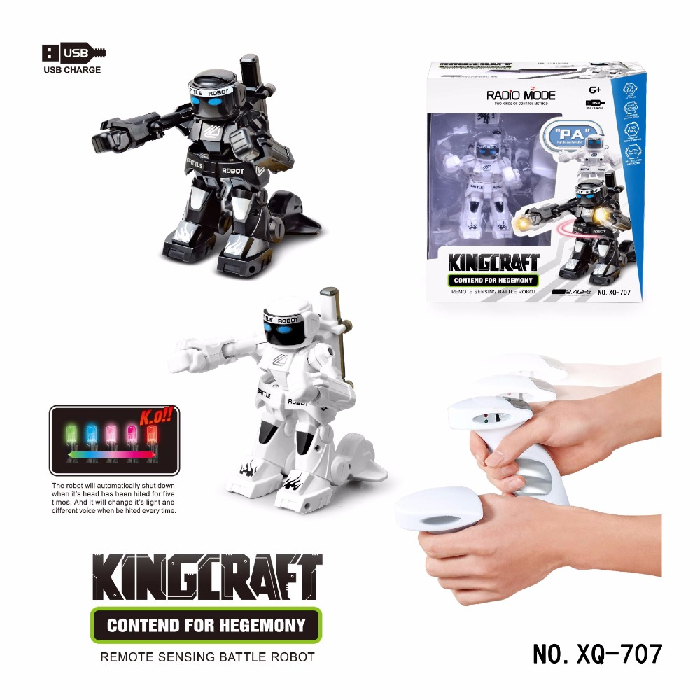 2.4GHz Fighting Robot Boxing RC Battle Robotic X-men Radio Remote Control Intelligent Toys VS Double Players Game Children Gift