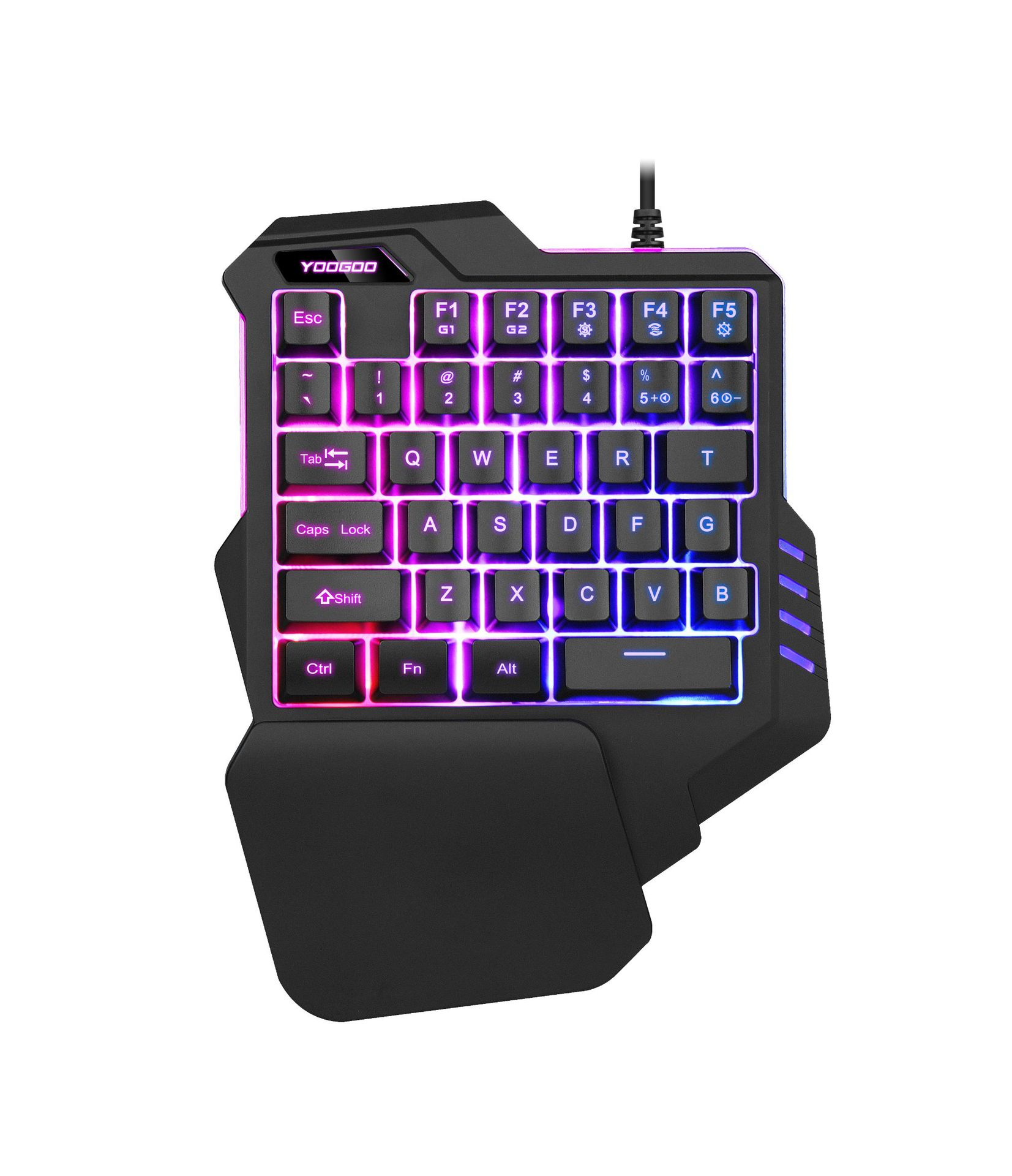 One-Handed Keyboard Colorful RGB Backlight Non-Machinery Laptop Computer Gaming Keyboard Chicken Hand Travel Cross Border Direct