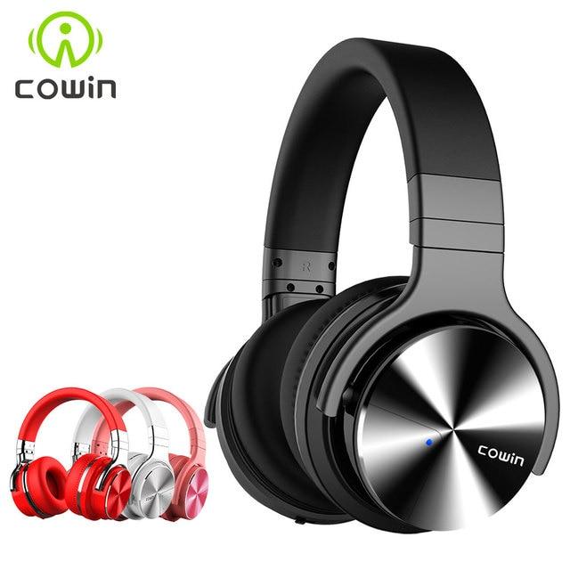 Orijinal Cowin E7PRO aktif gürültü Bluetooth kulaklıklar kablosuz mikrofonlu kulaklık ANC Handsfree HIFI bas ses