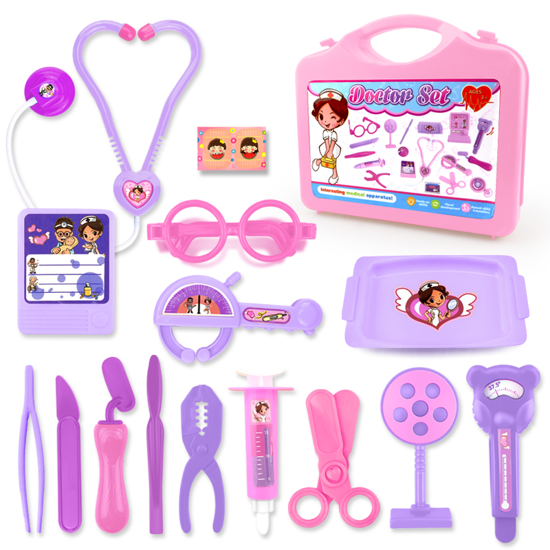 Children Doctor Nurse Pretend Play Set Medical Tool Kids Mini Simulation  Learing Toy Educational Role Play Gift For Baby Girl