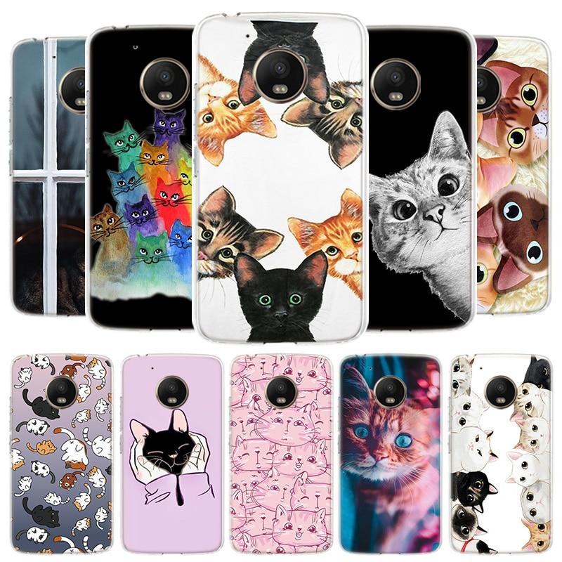 Cat Cute Kitten Catling Cover Phone Case For Motorola Moto G8 G7 G6 G5S G5 E4 Plus G4 E5 E6 Play Power One Action EU Gift Shell