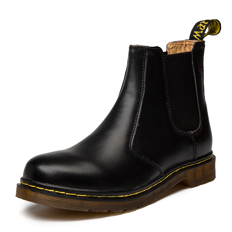Autumn Winter Genuine Leather Chelsea Boots Men Shoes Vintage Classic Ankle Boots Waterproof Male Casual Motorcycle Boot