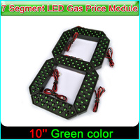 10 Green Color Digita Numbers Display Module LED Signs 7 Segment Of the Modules, 7 Segment LED Gas Price Module