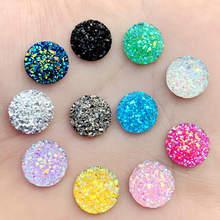 Cristal AB 12mm 80 pièces/lot de pierres précieuses en résine à dos plat, strass ronds à pois, pour décoration à faire soi-même