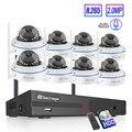 Techage 8CH CCTV System Drahtlose 1080P HD NVR 8PCS 2.0MP IR Outdoor Wasserdicht Dome Wifi Sicherheit Kamera System überwachung Kit|Überwachungssystem|   -