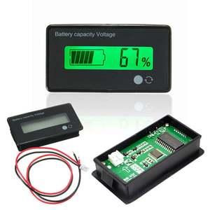 Image 1 - Pil test cihazı 12V/24V/36V/48V 8 70V LCD asit kurşun lityum pil kapasitesi göstergesi voltmetre gerilim pil test cihazı s araçları