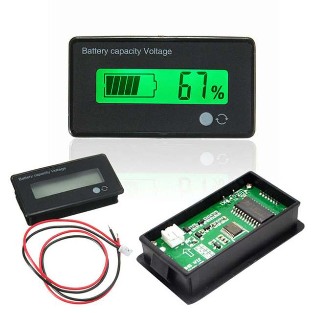 Pil test cihazı 12V/24V/36V/48V 8 70V LCD asit kurşun lityum pil kapasitesi göstergesi voltmetre gerilim pil test cihazı s araçları