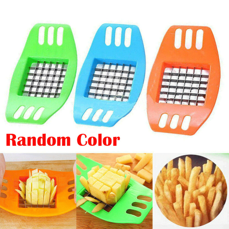 2020  French Fry Potato Chip Cut Cutter Vegetable Fruit Slicer Chopper Chipper Blade Cutter Kitchen Cooking Tools Accessories