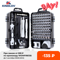 KINDLOV-Juego de destornilladores 112 en 1, conjunto de brocas de precisión, multifunción, dispositivo de reparación de teléfonos móviles, herramientas manuales