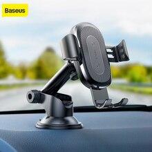 Baseus الجاذبية سيارة حامل شاحن آيفون X سامسونج S10 S9 S8 الهاتف المحمول تشى شاحن لاسلكي سريع شاحن لاسلكي