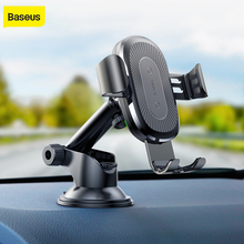 Baseus gravity Car Holder wireless charger for iPhone X Samsung S10 S9 S8 mobile phone QI wireless charger fast wireless charger