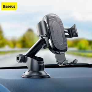 Image 1 - Baseus gravity Car Holder wireless charger for iPhone X Samsung S10 S9 S8 mobile phone QI wireless charger fast wireless charger