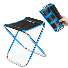 New  outdoor folding stool 7075 aluminum alloy fishing chair waterproof barbecue stool folding  portable train Mazar camping