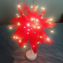 Настольная лампа «сделай сам» с перьями ночник теплым белым