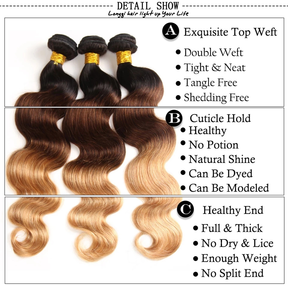 real bom barato mel loira ombre cabelo 01
