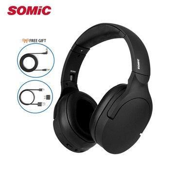 Somic SC2000 Active Noise Reduction Wireless Bluetooth Headphone HIFI Sound Music Headset ANC Wired Headband APTX CSR