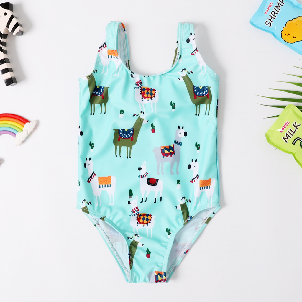 2020 New Baby Girl Swimsuit Girl's One Piece Swimwear Classic Children Bodysuit Carton Print Swimsuit For Girl Bathing Suit