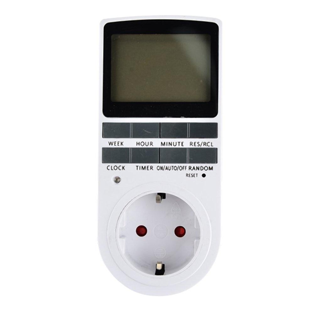 Mini Digital LCD 230V 16A temporizador interruptor toma de corriente Control de tiempo de enchufe para cocina electrodoméstico enchufe de la UE con collock Empleado escaneando huella dactilar en la máquina para registrar el tiempo de trabajo 2000 usuarios más baratos asistencia máquina TimeTrak sistemas