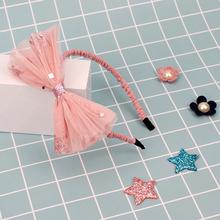 Dziecko kokardka dziewczęca węzeł opaski brokatowe szpilki cekiny lśniące koronkowe opaski maluch niemowlę śliczna ozdoba do włosów dla dzieci akcesoria do włosów tanie tanio NoEnName_Null POLIESTER dla dziewczynek yarn Drukuj baby HAXY0574-Alice Opaski do włosów 0-1 M 10 m 12 m 16 M 17 M 18 m