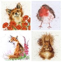 Cross-Stitch-Kit Bothy Threads Redbreast Robin Flowers Animal Counted Fox Wreath Squirrel