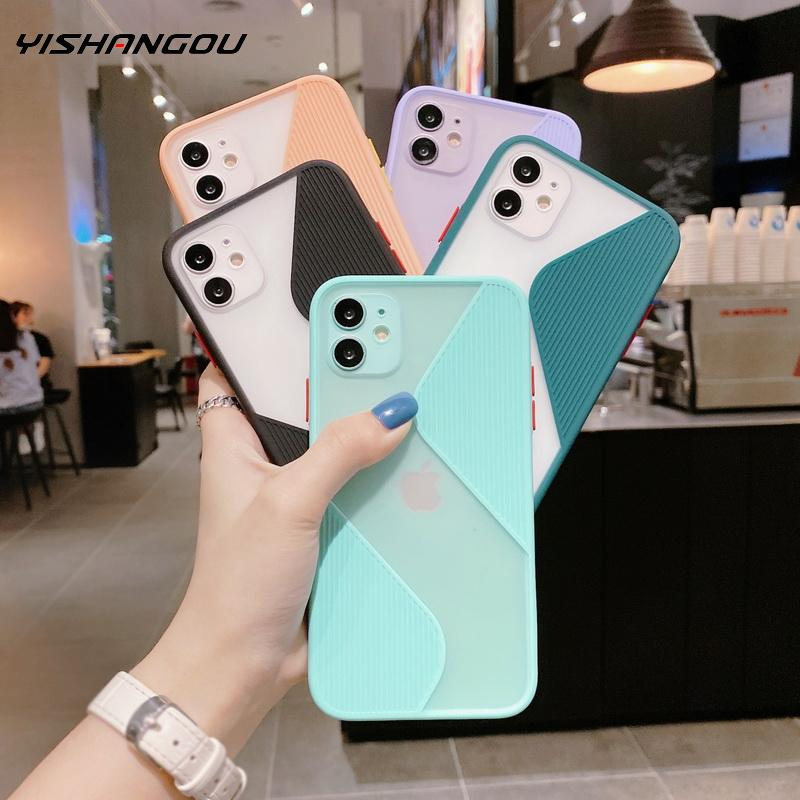 Camera Lens Protector Phone Case For iPhone SE 2020 11 Pro Max X XS XR 10 8 7 Plus TPU Hybrid Hard PC Case Cover For iPhone 11