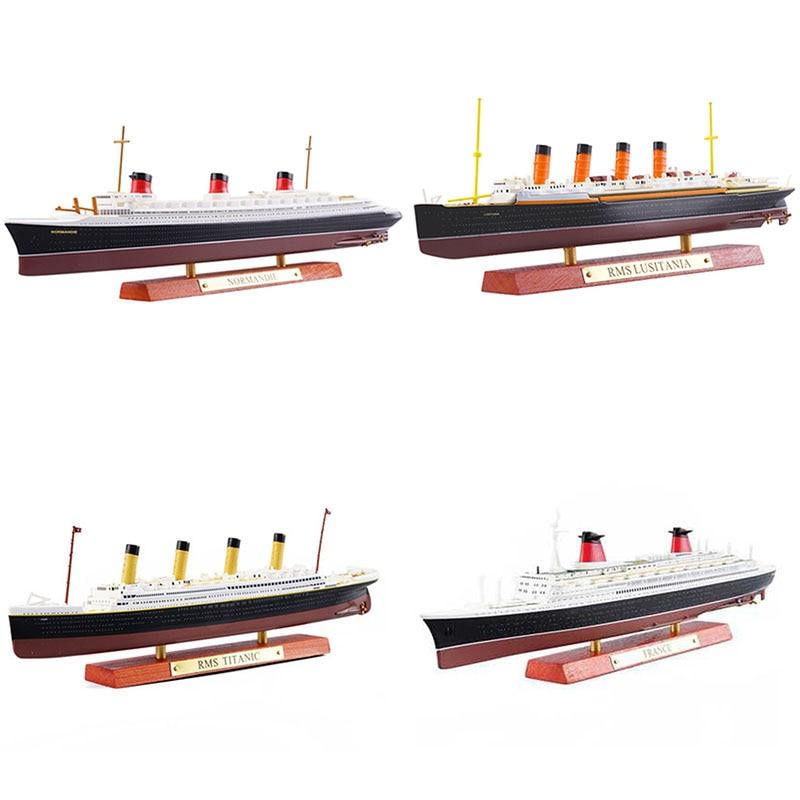 Modelo de cruzeiro titanic normandy, clássico de luxo, simulação de cruzeiro, liga, modelo de navio, decoração, presente