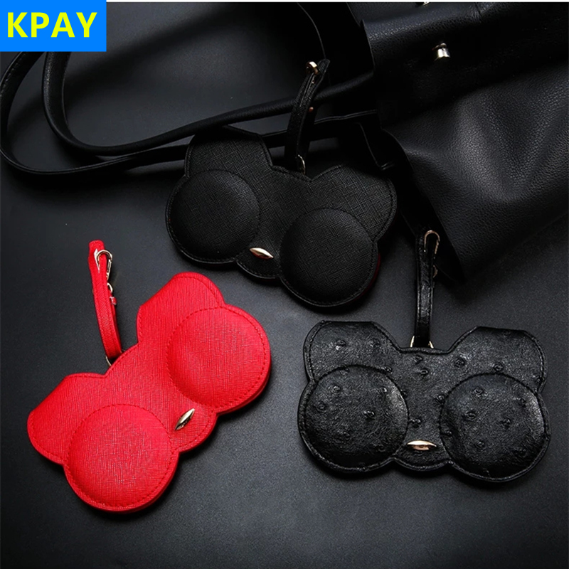 Kpay 2019 New Cat Sun Eye Glasses Sunglasses Case Bags Women PU leather Cute Cartoon Protable Bag Storage Protection Cover Box in Eyewear Accessories from Apparel Accessories