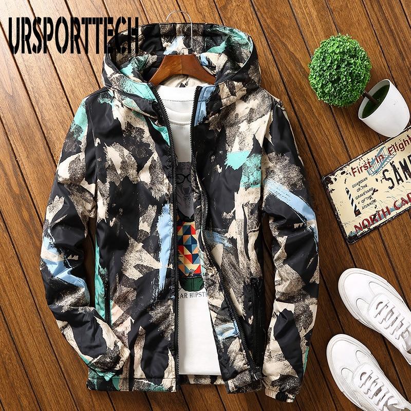 Men Casual Camouflage Hoodie Jacket 2018 New Winter 3D Print Jackets Men Hooded Windbreaker   Parka   Coat Male Outwear Plus Size7XL