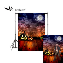 Beebuzz photo backdrop halloween new product scary pumpkin heads in the moonlight background take pictures of parties