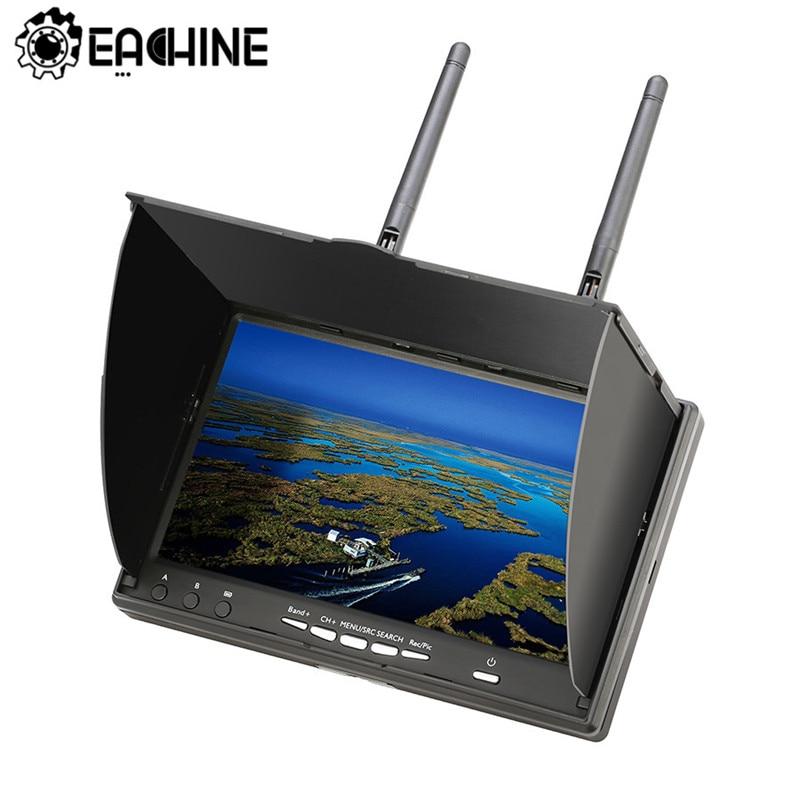 Eachine LCD5802D 5802 5.8G 40CH 7 Polegada FPV Monitor Com DVR Build-in Bateria Para FPV Multicopter