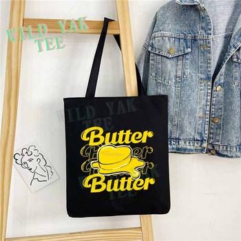 BTS Butter New Ablum Canvas Bag Double Titles
