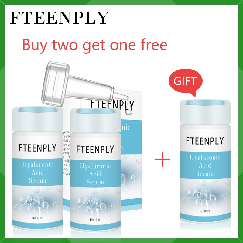 Buy 2 Get 1 Gift FTEENPLY Hyaluronic Acid Serum Whitening Moisturizing Essence Anti-Aging Wrinkle Shrink Pore Facial Skin Care